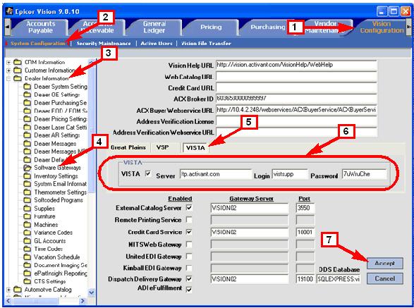 Vision Supports Epicor Vista Data Integration
